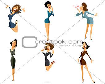 Six women in office