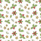 Christmas Mistletoe Seamless