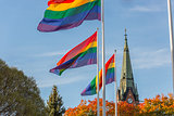 The  Rainbow Flag in front of Church