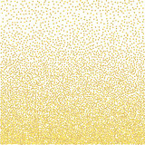 Golden grainy dotwork gradient texture. Retro halftone stippled background.