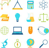 Set of icons education and e-learning