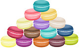 Pile of colorful macaron