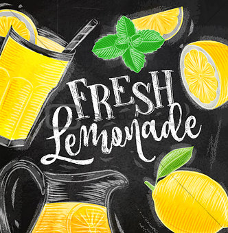 Poster fresh lemonade chalk