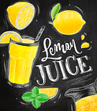 Poster lemon juice chalk
