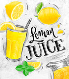 Poster fresh lemon juice
