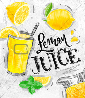 Poster fresh lemon juice