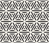 Vector Seamless Black And White Triangle Lines Geometric Grid Pattern