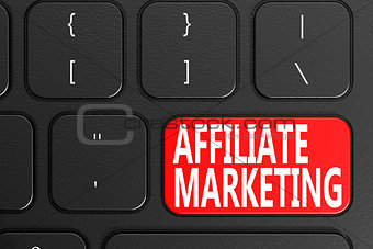 Affiliate Marketing on black keyboard
