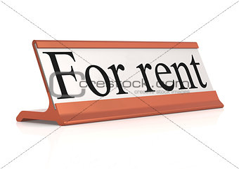 For rent table tag