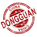 Red Dongguan stamp