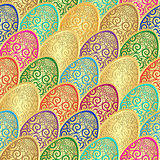 Seamless vintage Easter pattern