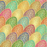 Seamless vintage Easter pattern