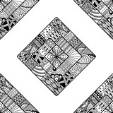 Zentangle seamless pattern. doodle, mandala.