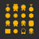 Set of medals isolated on white. label designs.