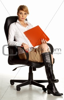 office lady in chair