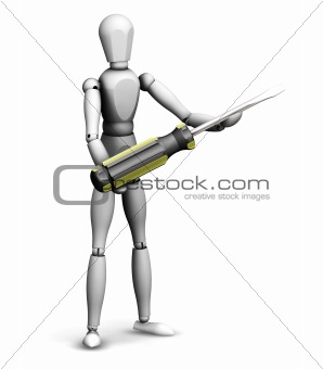 Man holding screwdriver