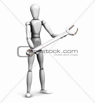 Man holding spanner