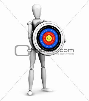 Man holding target