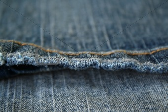 Jeans. The seam. The background.
