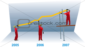 Construction Business Growth Graph