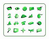 Icon Set Green - with clipping paths