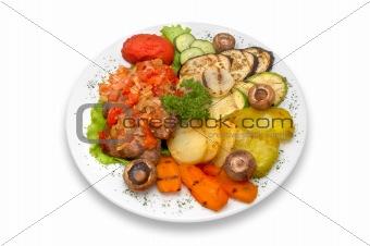 grilled veal fillet mignon with grilled vegetables