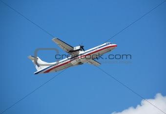 ATR-72 turboprop passenger plane