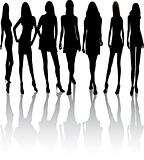 Fashion girls - Vector Silhouettes