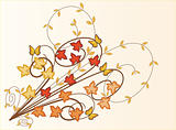 Autumn Leaves  background - vector illustration