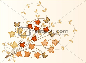 Autumn Leaves  background - vector illustration
