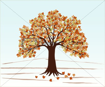 Autumn Leaves and tree- vector illustration