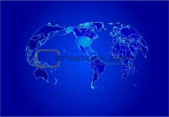 Map of the world - vector illustration