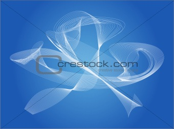 Blue abstract background - vector