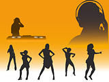 Club silhouettes vector