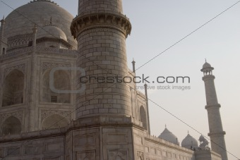 Tower of the Taj Mahal, Agra, India.