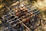 kebab cooking