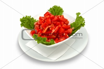 tomato salad with lettuce