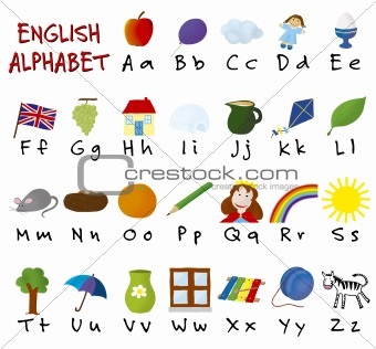 Image of English alphabet from Crestock Stock Photos