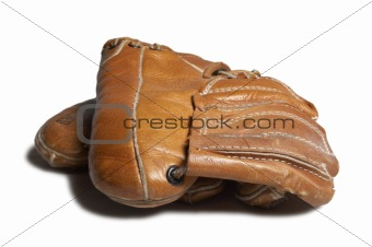 Old childs baseball glove.