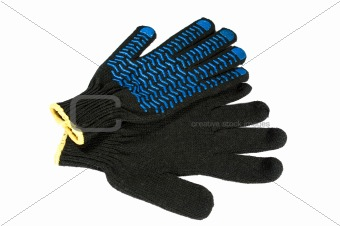 Safety gloves isolated on white