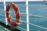 Life preserver on a ferry boat