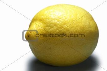 Bright yellow lemon