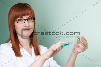 filling the syringe