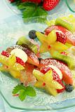 Fruit skewer as light dessert