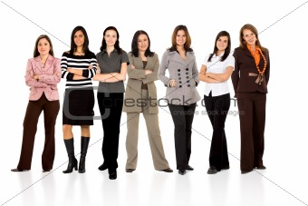 business woman only team