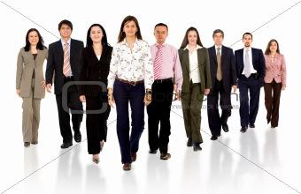 Business team walking forward