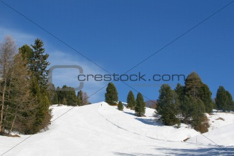 ski and the mountains