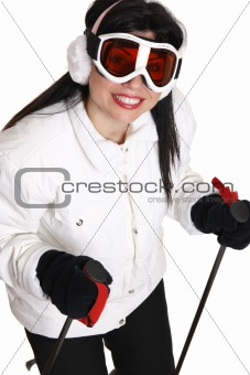 Female skier