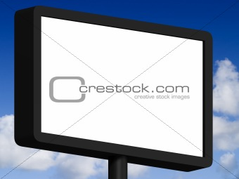 3d Blank Sign
