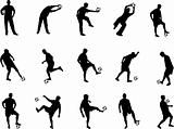 soccer player silhouettes